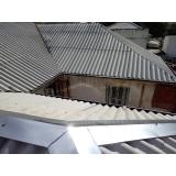 construção de telhado para área externa Chácara Itaim