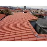 construção telhado embutido Chácara Santo Antônio