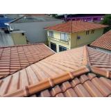 construção telhado residencial Chácara Flora