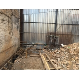 demolições de fábrica na Chácara Monte Alegre