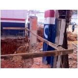 demolidora de prédios na Vila Linda