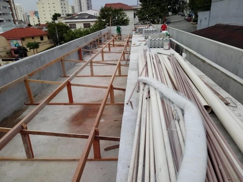 Construção de Telhados para Garagem de Condomínio Vila Internacional - Construção de Telhado Residencial
