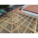 construção de telhado embutido residencial Parque dos Pássaros