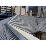 construção de telhado para área Santa Cecília