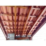 construção de telhado para garagem Vila União