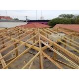 construção de telhado residencial em estrutura metálica Chácara Flora