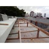 construção telhado de madeira Vila Lutécia