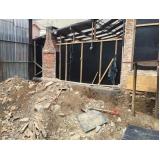 demolições de fábrica no Jardim Pilar